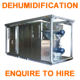 dehumidification blasting air equipment hire enquire