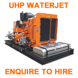uhp ultra high pressure hire enquire equipment